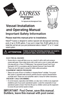 Nature2 Express Vessel Installation and Operating Manual